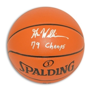 """Gus Williams Autographed Indoor/Outdoor Basketball Inscribed """"79 Champs"""""""