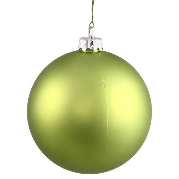 "Matte Lime Green UV Resistant Commercial Shatterproof Christmas Ball Ornament 4"" (100mm)"