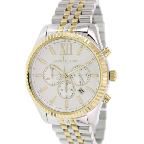 Michael Kors Men's Lexington Silver Stainless-Steel Quartz Fashion Watch