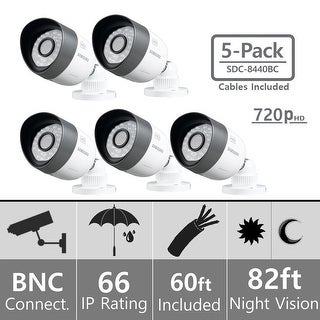 Lot of 5 Samsung SDC-8440BC Weatherproof 720p High Definition Camera (AHD Only)