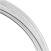 Beadsmith Silver Plated Copper German Bead Wire Craft Wire 16 Gauge/1.2mm (3 Meters / 9.8 Feet)