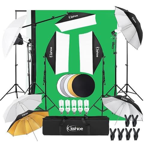5-In-1 Photography Soft Light Box Soft Umbrella Plus Reflector Set Lighting Kit