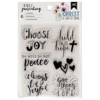 American Crafts Bible Journaling Clear Acrylic Stamps-Shield