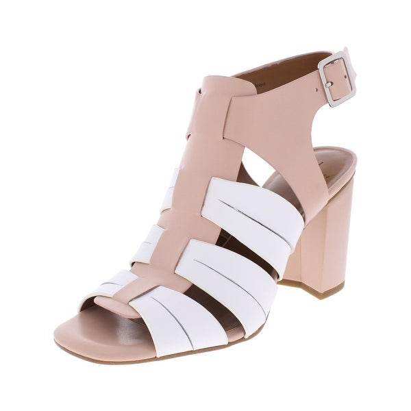 H Halston Womens Ruby Dress Sandals Leather Colorblock