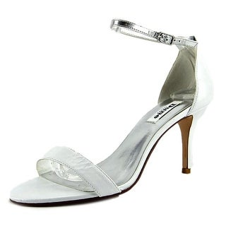Dune London Marissa Women Open-Toe Leather White Slingback Heel