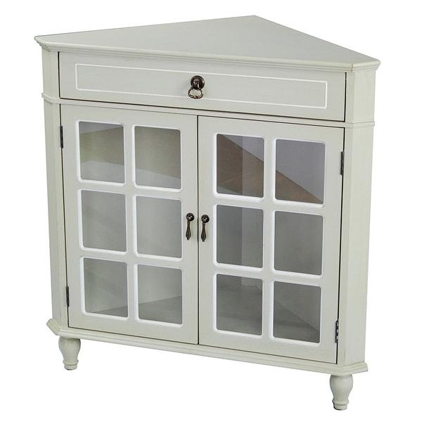 Glass Kitchen Cabinet Door Inserts: Shop 1-Drawer, 2-Door Corner Cabinet W/Paned Glass Inserts