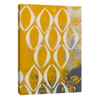 """PTM Images 9-108927  PTM Canvas Collection 10"""" x 8"""" - """"Yellow Pintura 2"""" Giclee Abstract Art Print on Canvas"""