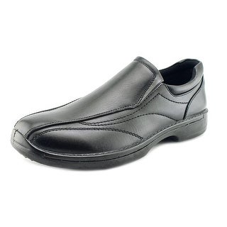 Deer Stags Sphere Men Round Toe Leather Black Loafer