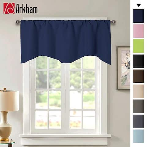 """Valances for Windows, Solid Color Short Curtain Valance Small Window Curtains, 52"""" x 18"""""""