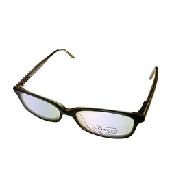 Coach Womens Opthalmic Eyeglass Frame Modified Plastic Rectangle Green Page 506