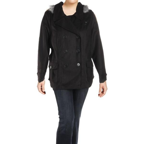 31df8307e1384 Shop Urban Republic Womens Juniors Pea Coat Double Breasted Winter ...