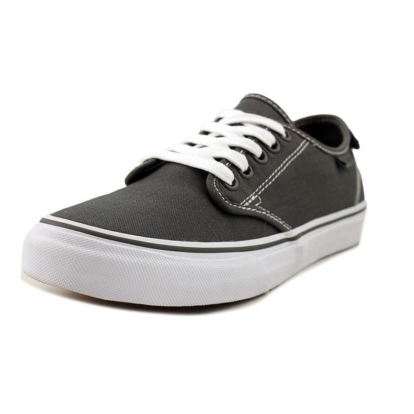 7a6721c544 Shop Vans Camden Deluxe Women Round Toe Canvas Gray Sneakers - Free ...