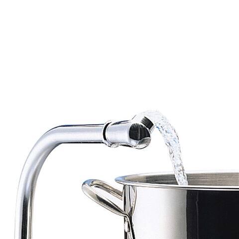 Renovators Supply Kitchen Sink Faucet Chrome Centerset 2 Lever Handle
