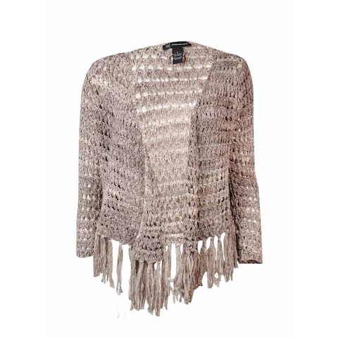 INC International Concepts Women's Fringed Open Cardigan