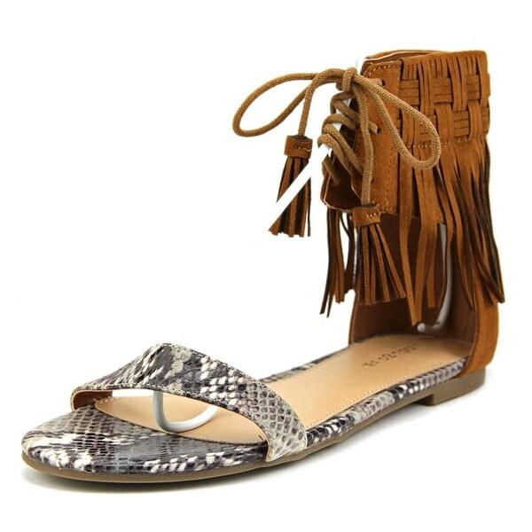 Indigo Rd. Candon Women Open Toe Canvas Brown Gladiator Sandal