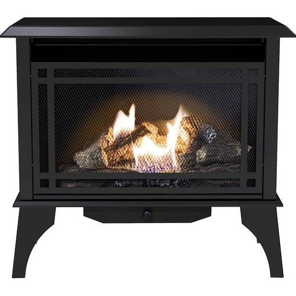 Pleasant Hearth VFS2-PH30DT 30000 BTU 32 in Intermediate Vent Free Gas Stove - Black