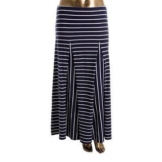 Lauren Ralph Lauren Womens Maxi Skirt Asymetric Flare