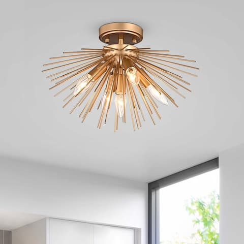 Lorena Sputnik Metal Flush Mount with 5 Lights