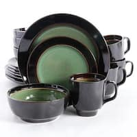 Gibson - 92057.16 - Ge Elite Bella Galleria Dinnerware Set Green-16Pc
