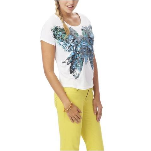 Aeropostale Womens Butterfly Boxy Graphic T-Shirt