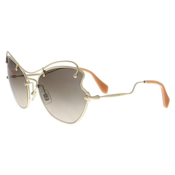 00ec371dc7d54 Shop MIU MIU MU56RS ZVN3D0 Pale Gold Butterfly Sunglasses - No Size ...