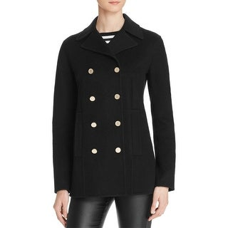 Theory Womens Overby DF Pea Coat Wool Button Up