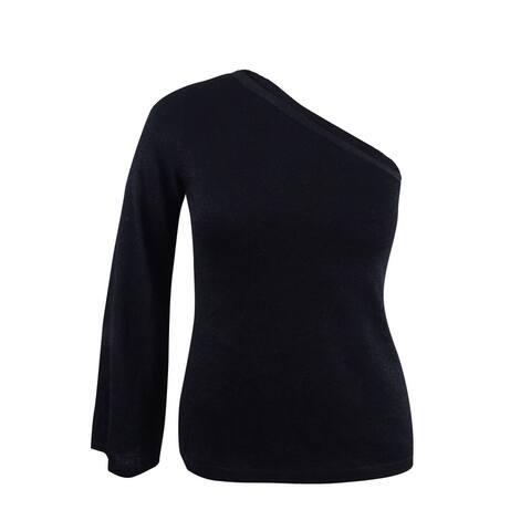 Vince Camuto Women's Metallic One-Shoulder Sweater