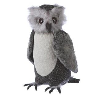 "15.5"" Country Cabin Large Soft Plush Gray Owl Stuffed Animal Figure"