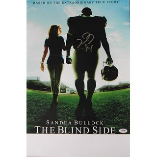 Michael Oher Baltimore Ravens Autographed 16x20 The Blind Side Movie Poster
