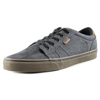 Vans Authentic + Men Round Toe Leather Black Sneakers