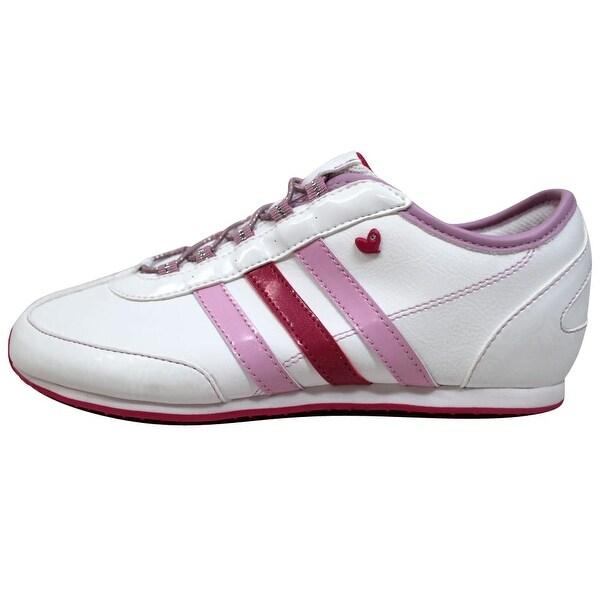 Adidas Dragon J White//Pink-Purple Q20540 Grade-School