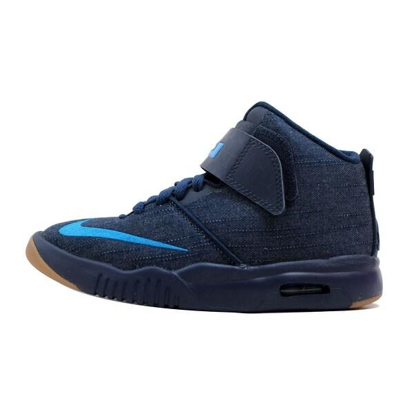 8dbb5a11232b Nike Grade-School Air Akronite Midnight Navy Photo Blue-Gum Light Brown  819832