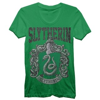 Harry Potter Slytherin House Juniors Green T-shirt
