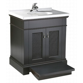 Corvus espresso vanity with pull out step and 60 inch - How deep is a standard bathroom vanity ...