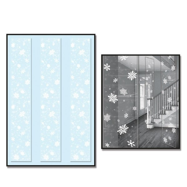 Club Pack of 36 Snowflake Party Panels Hanging Christmas Decorations 6'