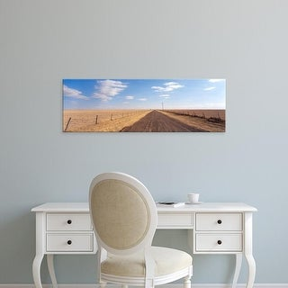 Easy Art Prints Panoramic Image 'Country road passing through a landscape, Texas Panhandle, Texas, USA' Canvas Art