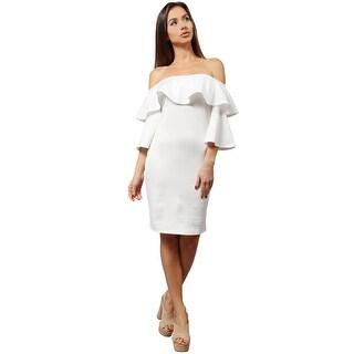 NE PEOPLE Women's Off Shoulder Ruffle Sleeve Cocktail Dress [NEWDR85]