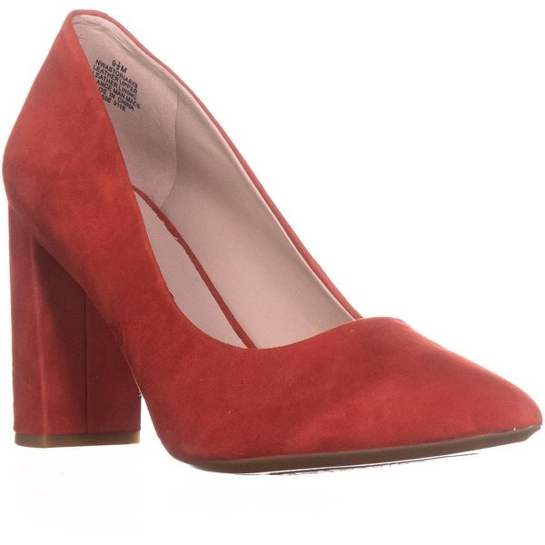 Nine West Astoria Pointed Toe Dress Pumps, Red Suede