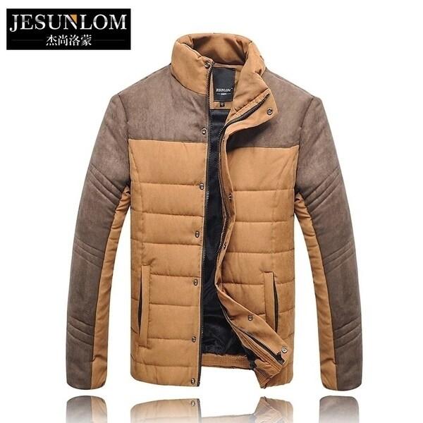 Men's Winter Coat Cotton Suede Stitching.