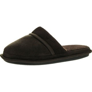Empire Mens Microsuede Sweater Detail Mens Open Back House Slippers
