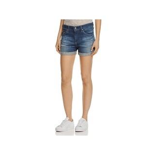 Adriano Goldschmied Womens Hailey Denim Shorts Exboyfriend Cuffed (3 options available)