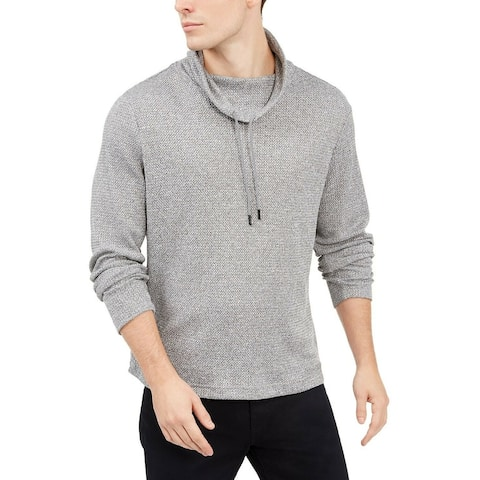 Alfani Mens Sweater Large Funnel-Neck Hooded Pullover