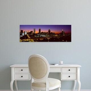 Easy Art Prints Panoramic Images's 'Panoramic view of Atlanta skyline at dusk, Atlanta, Georgia' Premium Canvas Art