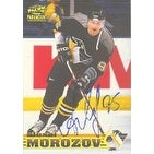 Alexei Morozov Pittsburgh Penguins 1998 Pacific Paramount Autographed Card This item comes with a