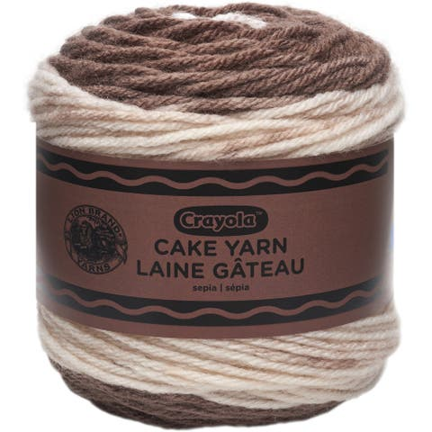 Lion Brand Yarn Crayola Cake-Sepia - Brown