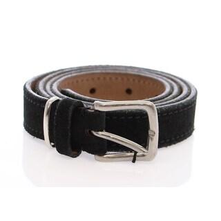 Dolce & Gabbana Dolce & Gabbana Blue Suede Leather Logo Belt - 95-cm-38-inches