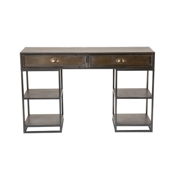 Metal Desk with Shelves. Opens flyout.