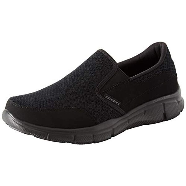 Skechers Sport Men's Equalizer Persistent Slip On Sneaker, Black, 10.5 M Us