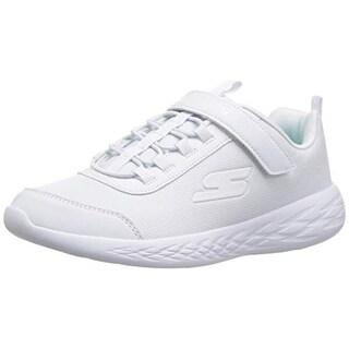 Skechers Kids Girls' Go Run 600 Sneaker, Wht 007, 3 Medium Us Little Kid