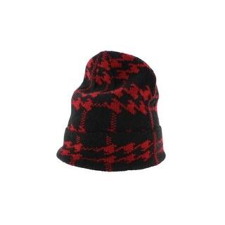 Zara Mens Knit Pattern Beanie Hat - M